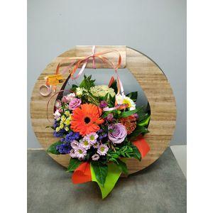 Bouquet bulle avec sa boite de transport