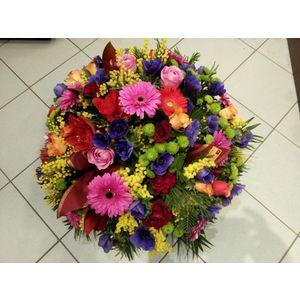 Coupe de fleurs multicolore